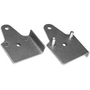 Heavy-Duty Stud Plate (2 Studs) for ToughTrak, PolyTrak, and Flush Mount 2 Roller Doors
