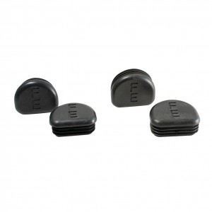 Set of 2 Flattened Black End Caps